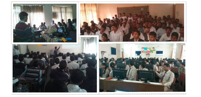 Invited by Govt Girls Engineering College, Lucknow Public College, & few more institutions to aware about Hacking